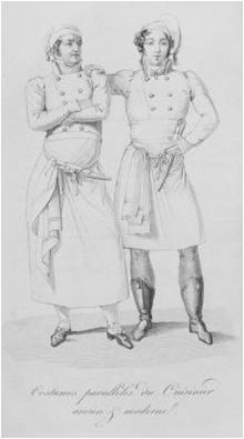 Uniforme Careme im Historia de la Cocina, un buen resumen